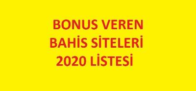 bonus veren siteler 2021